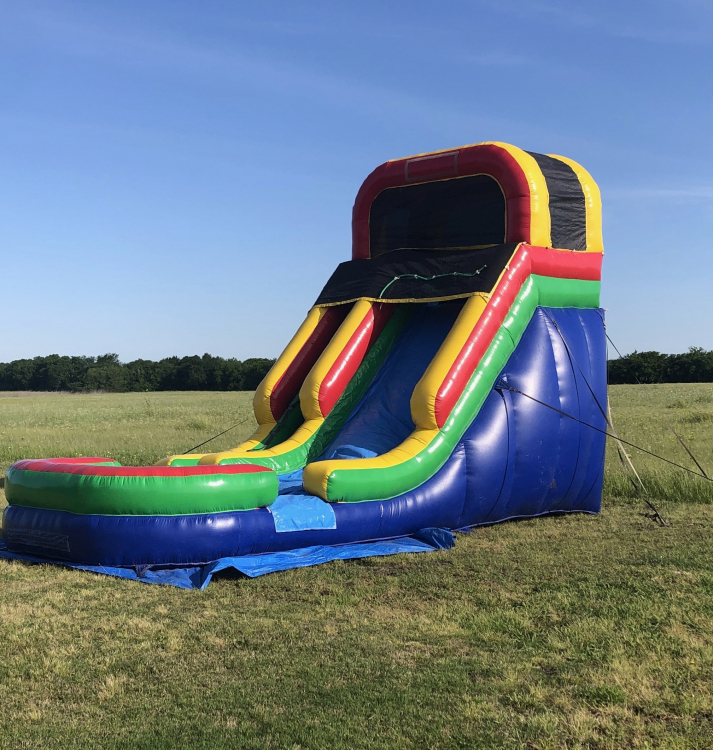 16 ft Rainbow Slide with Pool - Wet