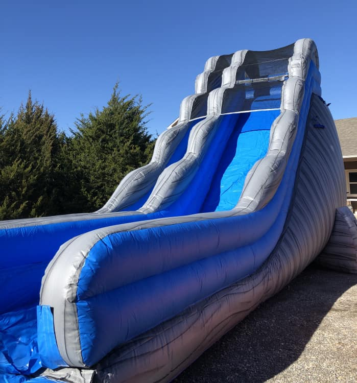 20 ft Grey Crush Waterslide with Pool